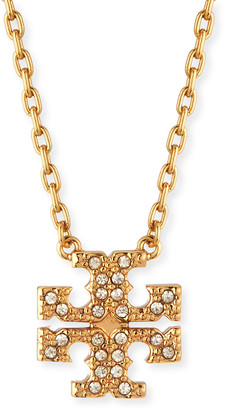 Tory Burch Kira Pave Delicate Necklace, Gold