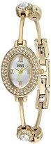 Badgley Mischka Women's Quartz Metal and Stainless Steel Dress Watch, Color:Gold-Toned (Model: BA/1360MPGB)