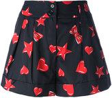 Moschino printed shorts - women - Silk/Cotton - 38