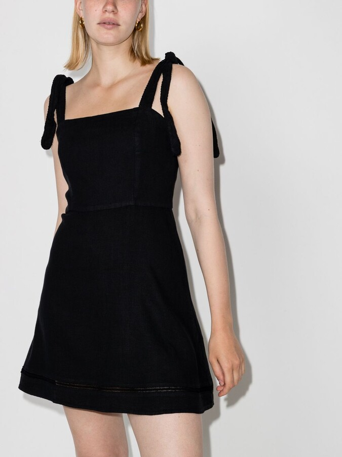 Thumbnail for your product : HONORINE Black Kiki Linen Mini Dress