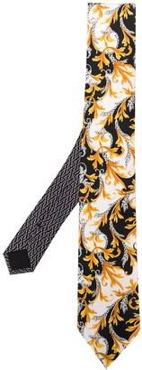 Versace Barocco-print tie