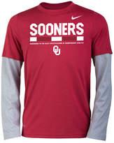 Nike Oklahoma Sooners Legend Long Sleeve Staff T-Shirt, Big Boys (8-20)