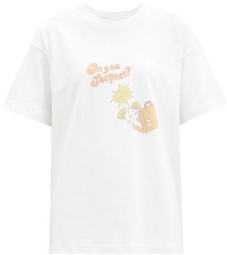 Jacquemus On Y Va Jacques Cotton T-shirt - White