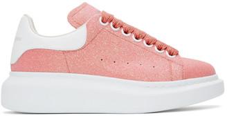 Alexander McQueen Pink Sparkle Oversized Sneakers