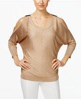 INC International Concepts Embellished Cold-Shoulder Top, Only at Macy's