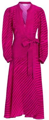Tanya Taylor Marcela Zebra Print Midi Dress