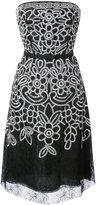 Oscar de la Renta embroidered chantilly lace dress