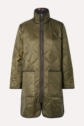 Madewell Reversible Quilted Ripstop And Shell Jacket - Army green