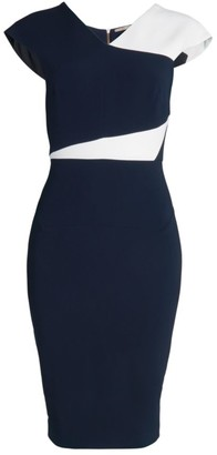 Roland Mouret Beadle Sleeveless Crepe Sheath Dress
