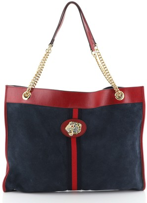 Gucci Rajah Chain Tote Suede Large