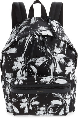 Saint Laurent Palm Tree City Backpack