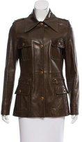 Celine Collared Leather Jacket