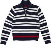 Nautica Little Boys' Quarter Zip Double Stripe Sweater (4-7)