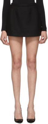 RED Valentino Black Wool Mini Skirt