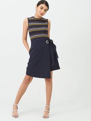 Ted Baker Anjelix Stripe Knitted Dress - Dark Blue