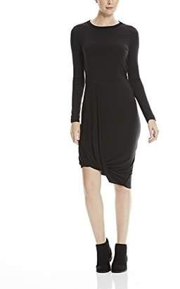 Bench Women's Drape Dress (Black BK022), (Size of : L)