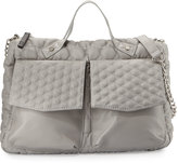 Cynthia Vincent Ila Quilted Satchel Bag, Gray Matte