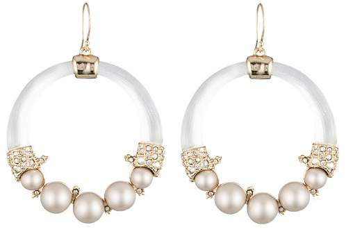 Alexis Bittar Simulated Pearl Loop Earrings