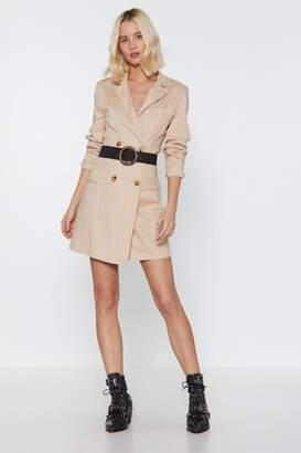 Nasty Gal Womens Linen Up Mini Blazer Dress - Beige - 12