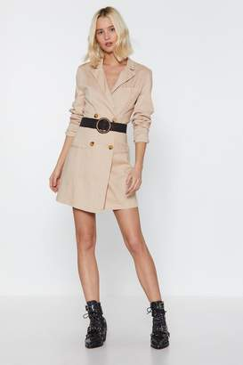 Nasty Gal Womens Linen Up Mini Blazer Dress - Beige - 8, Beige