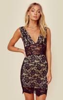 Nightcap Clothing decoletee mini dress