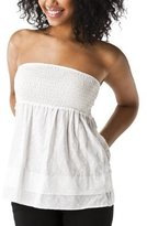 Mossimo Supply Co. Juniors Strapless Smocked Top - Fresh White