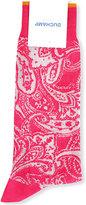 Duchamp Pink Striped Elegant Paisley-patterned Cotton-blend Socks