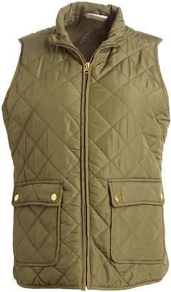 River & Rose Women's Outerwear Vests OLIVE - Olive Quilted Zip Vest - Women & Juniors
