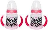 NUK Trendline Animal Prints Learner Cup 5 Ounce, 2 Pack - Zebra