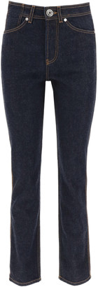 Lanvin Navy Blue Jeans With Contrast Stitching