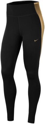 Nike The One Colourblock Leggings (Curve) - Black/Gold