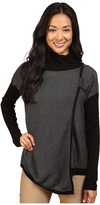 Ivanka Trump Mock Neck Sweater with Longer Front and Buckle