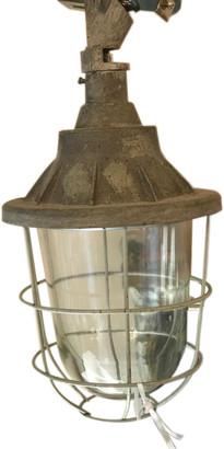 Light & Living - Metal Glass Quarry Ceiling Light - 17cmx27cm | metal | grey - Grey/Grey