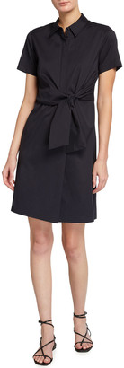Lafayette 148 New York Zariah Collared Tie-Front Dress