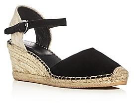 Botkier Women's Elia Suede Ankle Strap Espadrille Wedge Sandals