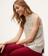 LOFT Petite Mixed Ribbed Sleeveless Sweater