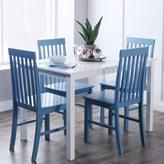 Walker Edison White/ Powder Blue 5-piece Dining Set