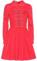 Miu Miu Smocked cotton dress