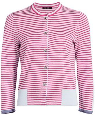 Nic+Zoe Petite Stripe Toggle Sweater