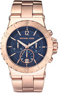 MICHAEL Michael Kors Chronograph Watch, Rose Gold/Navy