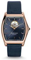 Emporio Armani Ea Swiss Made Classic Watch With Alligator Strap