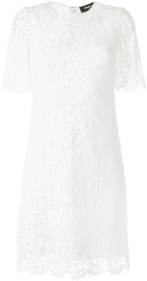 Paule Ka Lace-Detail Flared Dress
