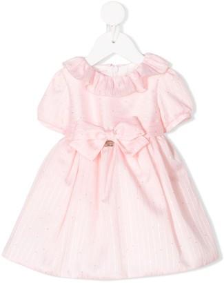 Miss Blumarine Striped Bow-Embellished Dress