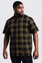 Big & Tall Large Check Regular Fit Shirt