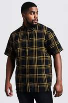 BoohooMAN Big & Tall Large Check Regular Fit Shirt
