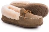 Old Friend Footwear Fina Moc Slippers - Sheepskin Lining (For Women)