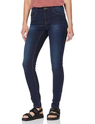 Vero Moda NOS Women's Vmseven Nw S Shape Up Jeans Vi509 Noos Slim Dark Blue Denim, 34W / 30L