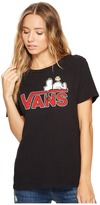 Vans Sleeping Snoopy Basic Crew Women's Short Sleeve Pullover