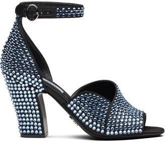 Prada Crystal-Embellished Sandals