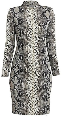 Akris Python-Print Stretch Silk Dress